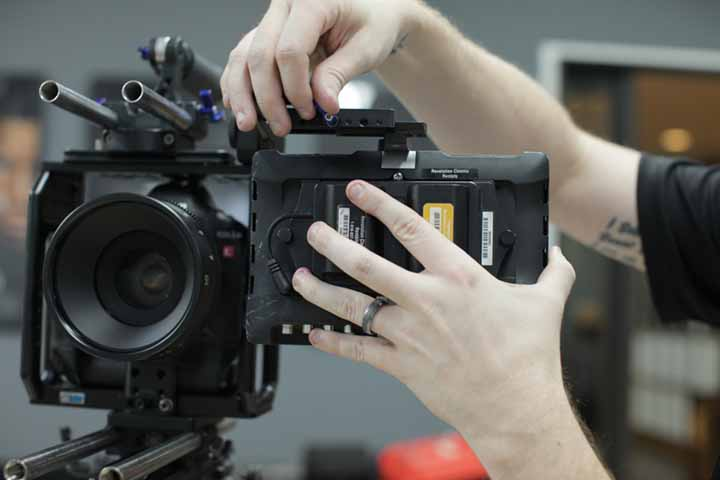 SmallHD monitor going onto the EVF Knuckle